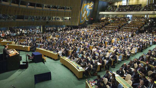 Торжественная церемония подписания соглашения по борьбе с глобальным изменением климата в штаб-квартире ООН в Нью-Йорке, США. 22 апреля 2016. Архивное фото