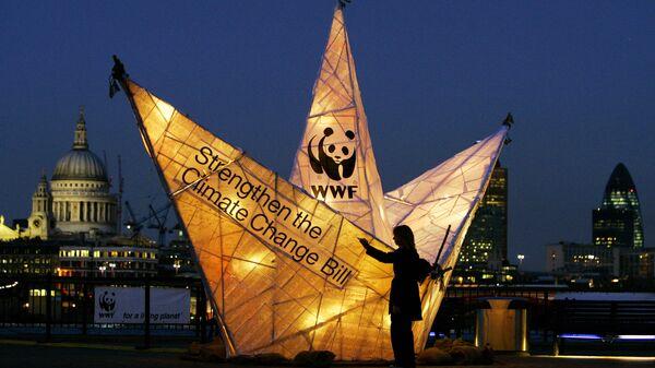 Акция всемирного фонда дикой природы (WWF) в Лондоне