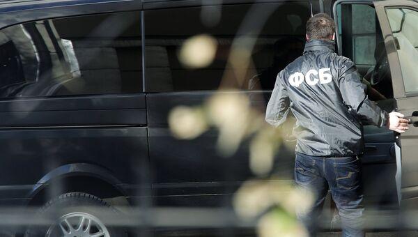 Сотрудник Федеральной Службы Безопасности России у Лефортовского суда города Москвы. Архивное фото