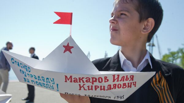 Акция Кораблик Победы в Крыму