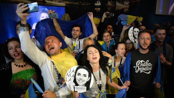 Болельщики конкурсантки от Украины Джамалы. Архивное фото