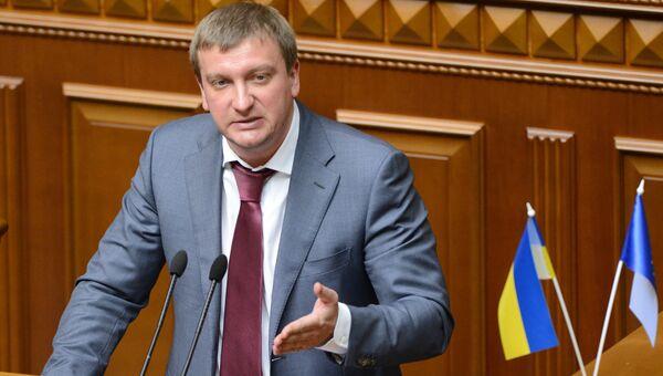 Министр юстиции Украины Павел Петренко выступает на заседании Верховной Рады Украины. Архивное фото