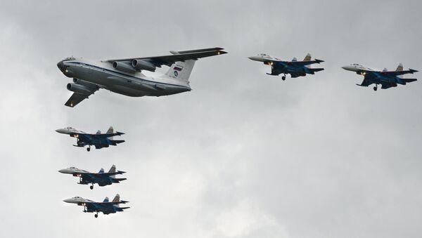 Военно-транспортный самолет Ил-76МД. Архивное фото