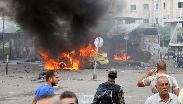 Место взрыва в городе Тартус, Сирия. 23 мая 2016