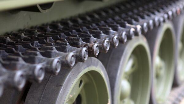 Гусеница танка. Архивное фото