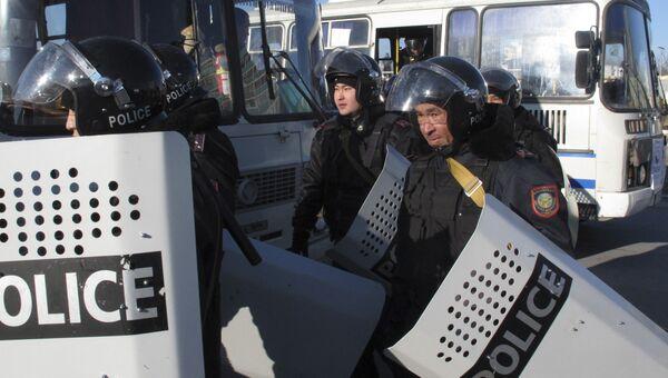Сотрудники правоохранительных органов Казахстана. Архивное фото