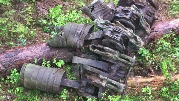 Обломки самолета, найденные на острове Большой Тютерс