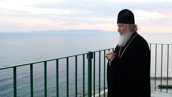 Патриарх Московский и всея Руси Кирилл прибыл на Афон