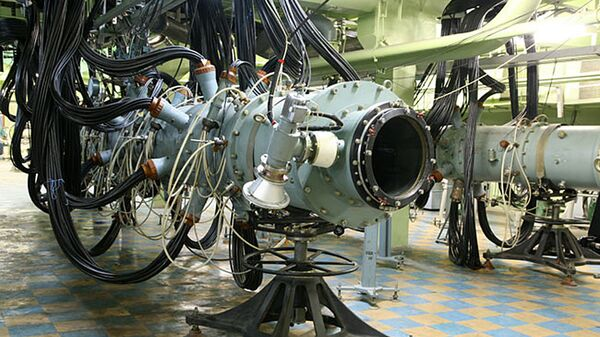Лазерная установка во Всероссийском научно-исследовательском институте экспериментальной физики в Сарове. Архивное фото