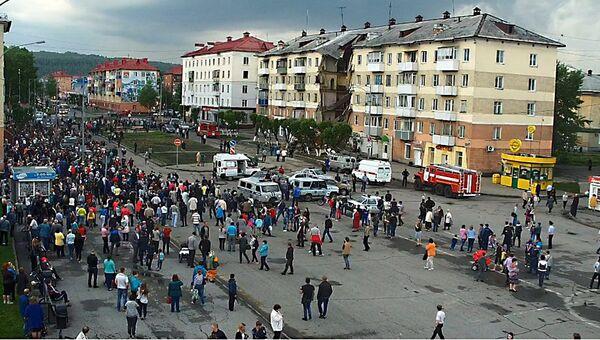 Обрушение подъезда в Междуреченске