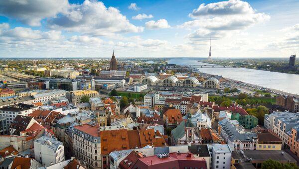Вид Старого города в Риге, Латвия. Архивное фото