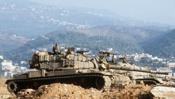 Израильские танки в Ливане. 1982