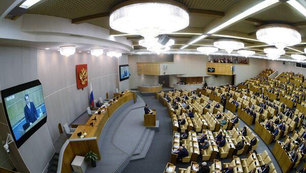 Заседание Государственной Думы. Архивное фото