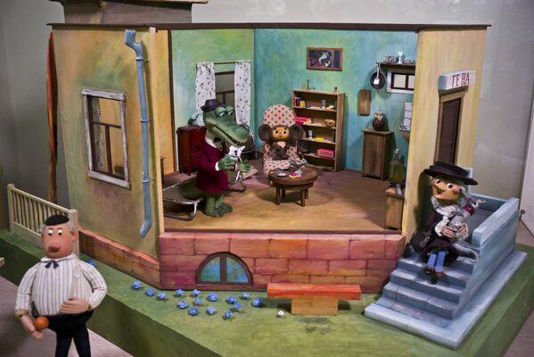 Комната крокодила Гены - экспонат Музея киностудии Союзмультфильм