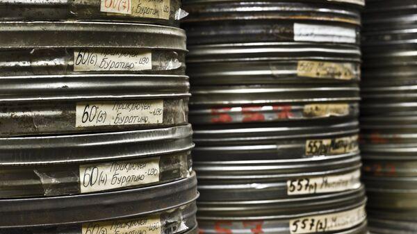 Хранилище мультипликационных кинофильмов на киностудии Союзмультфильм, которой исполняется 80 лет