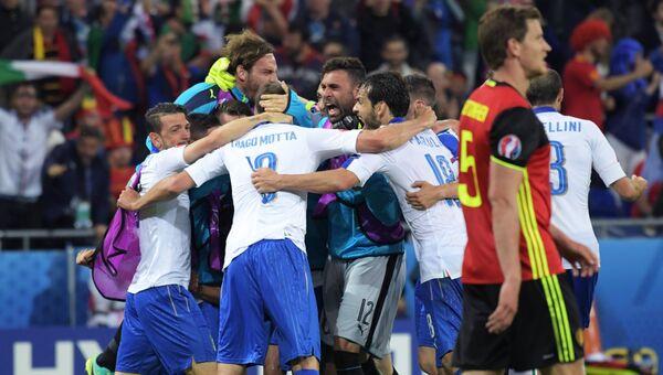 Футбол. Чемпионат Европы - 2016. Матч Бельгия - Италия