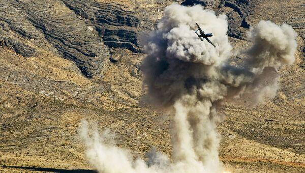 Самолет ВВС США во время учений в штате Невада. Архивное фото
