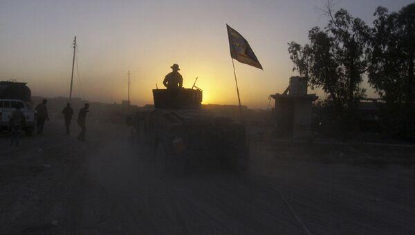 Иракские силы безопасности на позициях во время борьбы с боевиками ИГИЛ в городе Эль-Фаллуджа, Ирак. Архивное фото