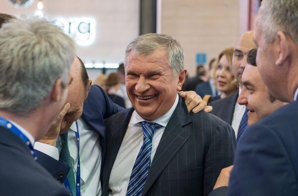 Игорь Сечин на выставке SPIEF Investment & Business Expo