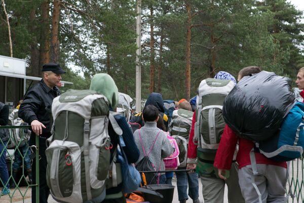 Поисково-спасательная операция в районе озера Сямозеро в Карелии