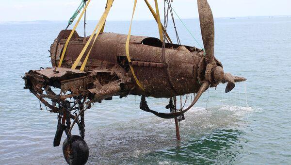 Штурмовик Ил-2 поднятый со дна Керченского пролива. Архивное фото