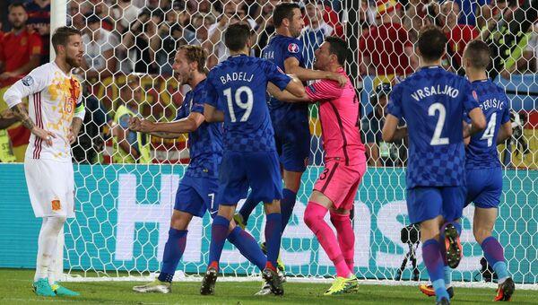 Футбол. Чемпионат Европы - 2016. Матч Хорватия - Испания