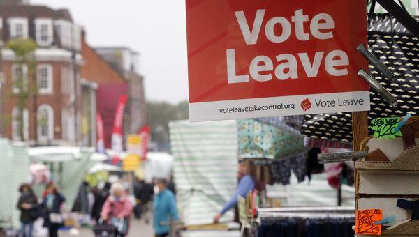 Подготовка к референдуму по выходу Великобритании из ЕС. Лондон