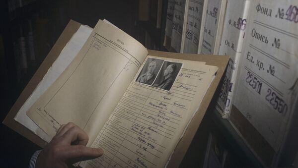Личное дело немецкого военнопленного в фондах Российского Государственного военного архива. Архивное фото