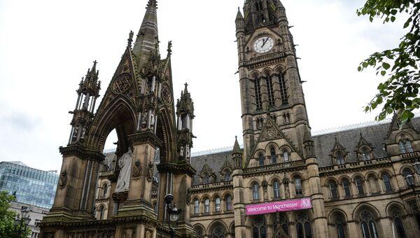 Ратуша в Манчестере, где пройдет объявление итогов референдума о членстве Великобритании в Европейском союзе>