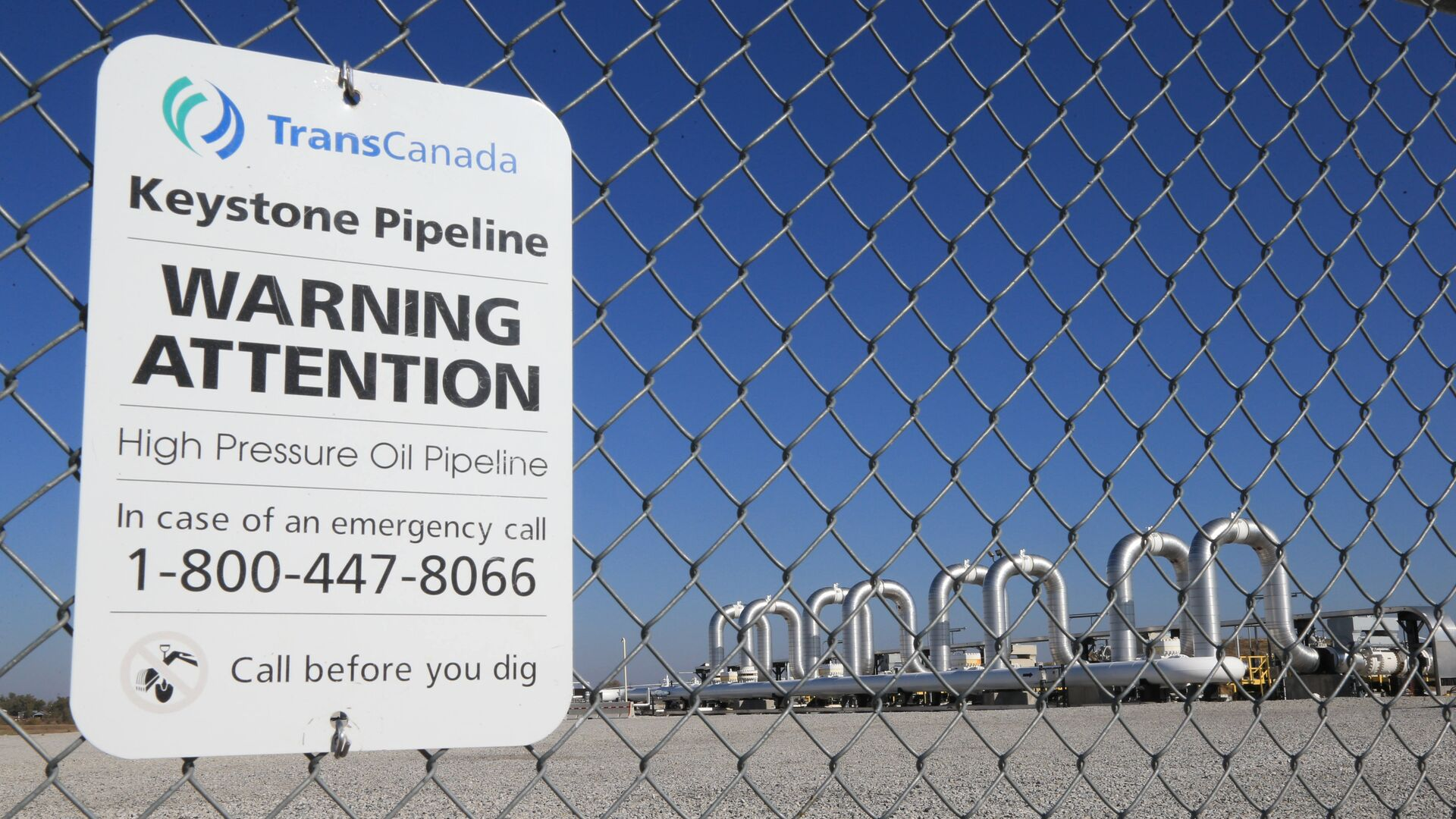 Компрессорная станция компании TransCanada для нефтепровода Keystone XL в Небраске, США - РИА Новости, 1920, 21.01.2021