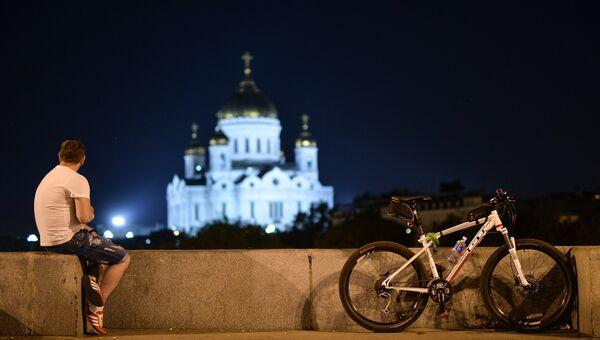 Ночной велопарад. Архивное фото