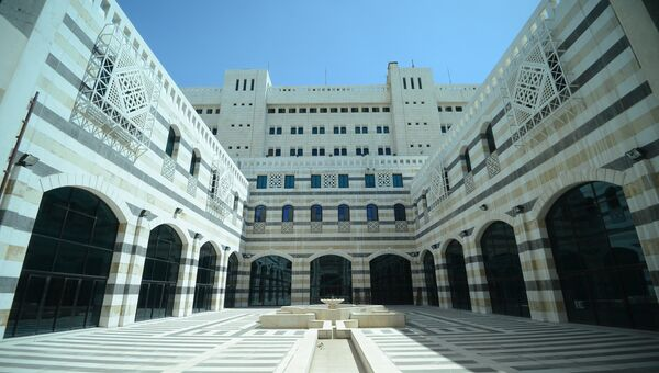 Здание Совета министров Сирийской арабской республики в Дамаске. Архивное фото