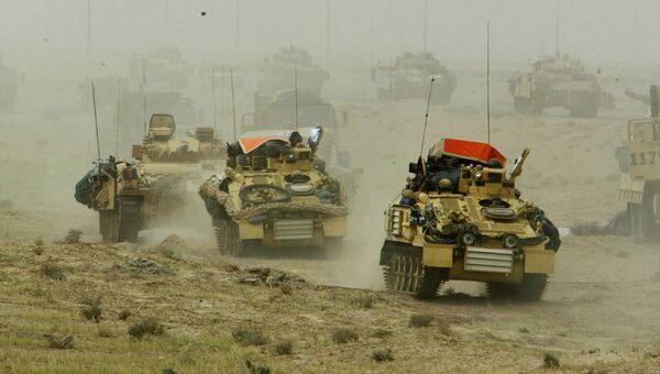 Британские танки в Ираке. 22 марта 2003 года