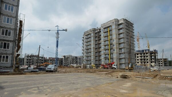 Строительство жилых домов в городе Циолковский Амурской области. Архивное фото