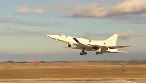 Удар бомбардировщиков Ту-22 по объектам ИГ в районах Пальмиры