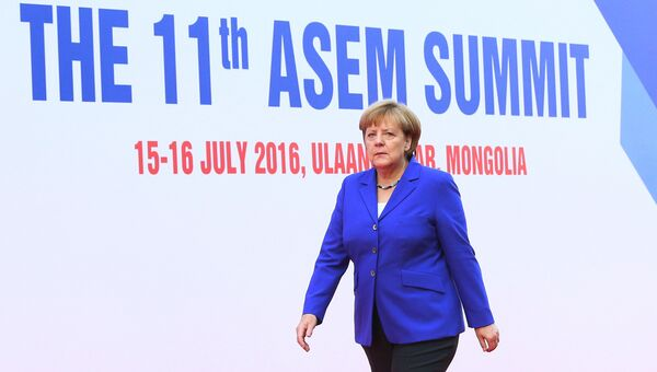 Ангела Меркель на саммите Европа-Азия (ASEM) в Монголии