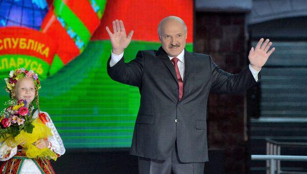 Президент Белоруссии Александр Лукашенко на открытии XXV Международного фестиваля искусств Славянский базар в Витебске. Архивное фото