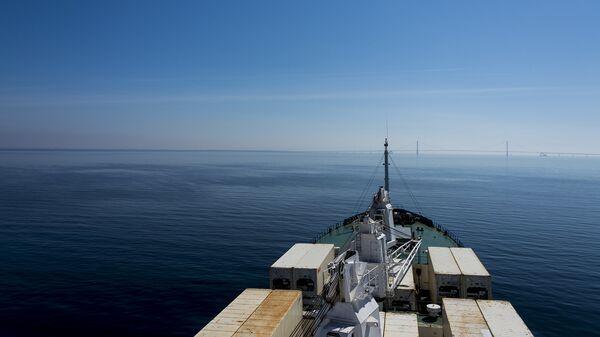 Контейнеровоз в океане. Архивное фото