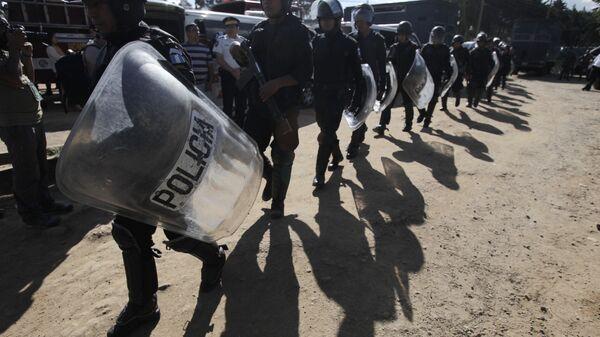 Сотрудники гватемальской полиции. Архивное фото