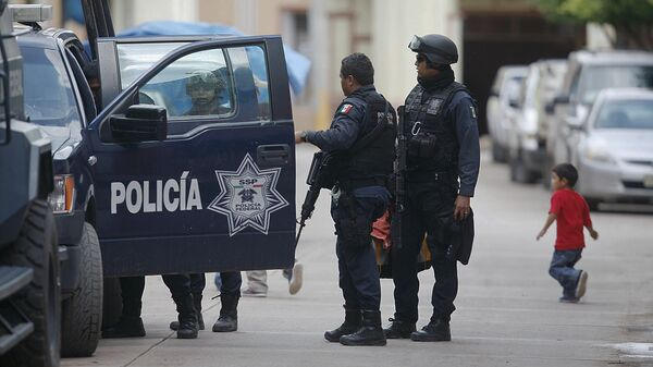 Сотрудники правоохранительных органов в Мексике