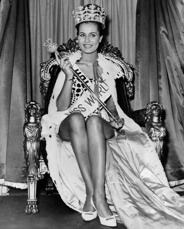 Победительница конкурса Мисс Мира Катарина Лоддерс из Голландии, 1962 год