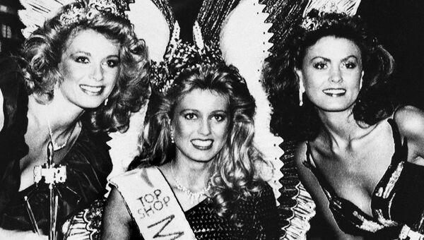 Победительница конкурса Мисс Мира Хольмфридур Карлсдоттир из Исландии, 1985 год