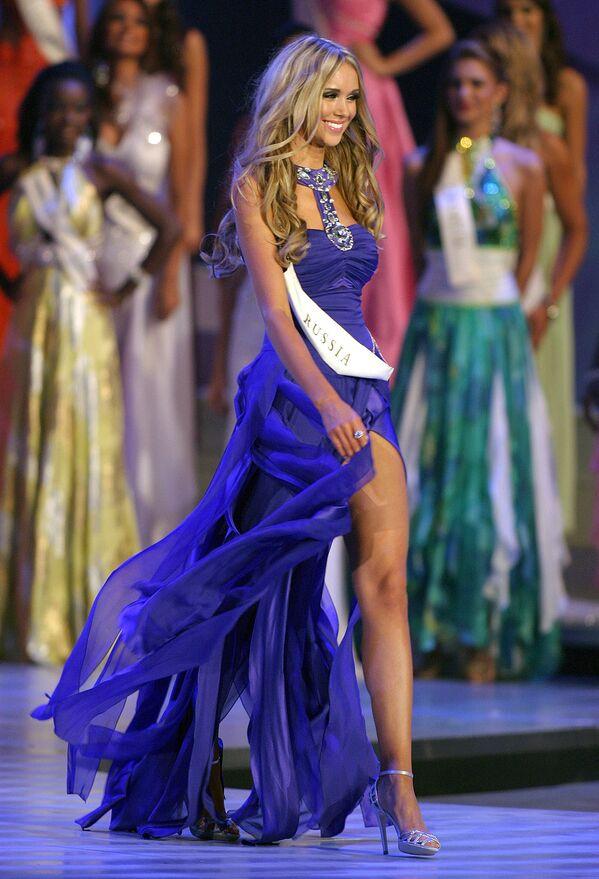 Победительница конкурса Мисс Мира Ксения Сухинова из России, 2008 год