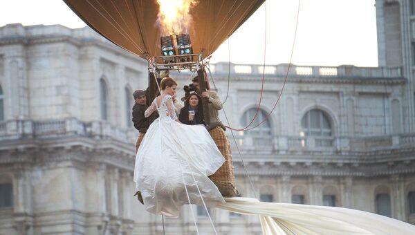 Молодожены на воздушном шаре в Бухаресте