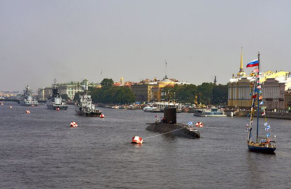 Корабли Балтийского флота в акватории реки Невы