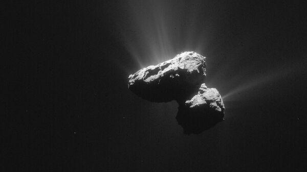Фотография кометы 67P/Чурюмова — Герасименко снятая Rosetta