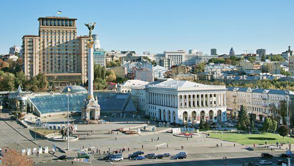 Площадь Независимости в Киеве, Украина