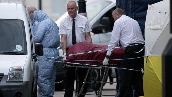 Сотрудники скорой помощи на месте происшествия на Рассел-сквер в Лондоне, Великобритания. 4 августа 2016