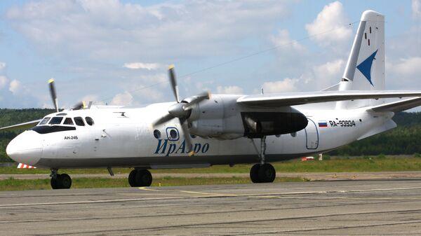 Самолет Ан-24Б авиакомпании ИрАэро