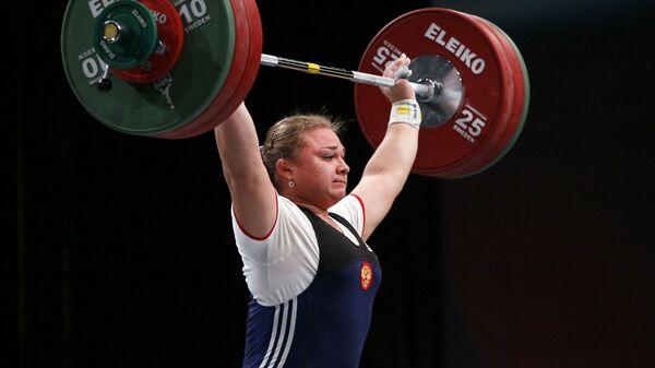 Чемпионка мира по тяжелой атлетике Татьяна Каширина. 2011 год